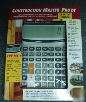 New Construction Master Pro Desktop W Trig Calculator