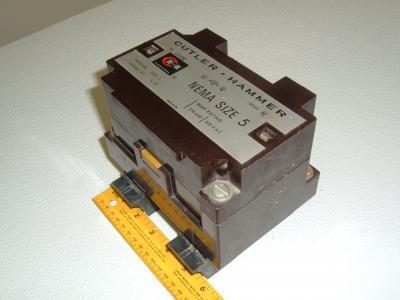 Cutler hammer motor starter c10gn2 series a1 size 5 for Cutler hammer motor starter