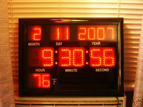 Led Clock Ham Radio Cb Radio Shack Room Large