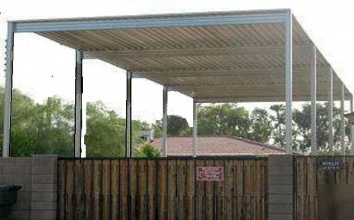 Metal Hay Covers : Rv canopy steel motor home cover horseport hay barn