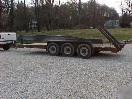 Bobcat Trailer Fenders : Equipment construction trailer bobcat excavator
