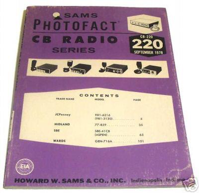Sams photofact cb 220 september 1978 cb radio series for Lloyds motors jamestown nd