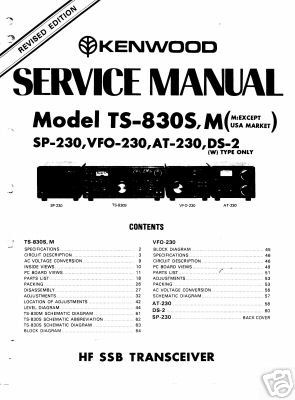 trio kenwood ts 830s ts 830m user service manual kenwood ts-830s manual download kenwood ts-830 service manual