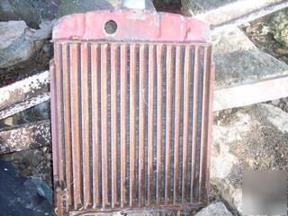 Farmall h tractor radiator and shutters plus shroud