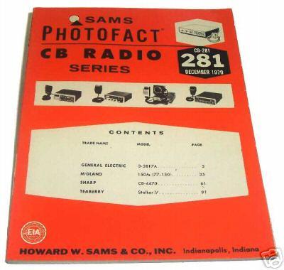 Sams photofact cb 281 december 1979 cb radio series for Lloyds motors jamestown nd