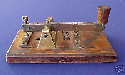 19TH century large british railroad telegraph key afe  19TH century la...