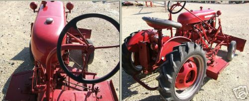 Farmall cub tractor lawn mower + snow plow front blade