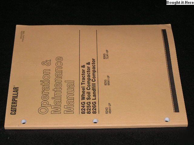 Cat 247b Operators manual