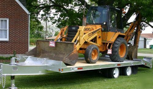Case 580 Backhoe >> 1985 case 580C extendahoe backhoe with 24FT hd trailer