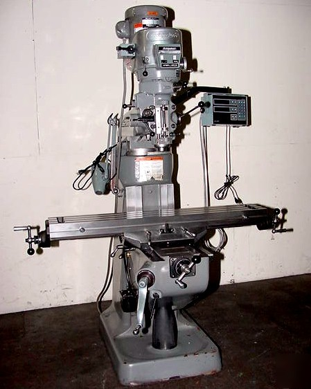 1996 bridgeport series 1 vertical mill w/ acu-rite dro