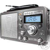 S350DL deluxe silver am/fm shortwave radio