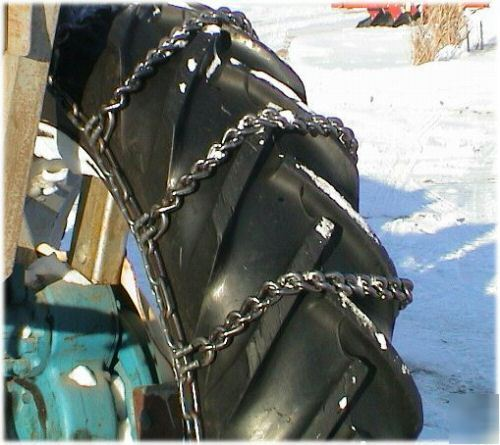 "9n Ford Tractor >> Ford 2N 9N 8N jubilee tire chains 12.4 X28"" adjustable"