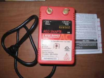 Zareba Red Snap R Electric Fence Charger 2 Mi Range