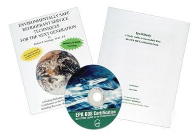 New epa section 608 study course on cd-rom in package