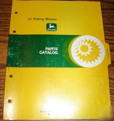 john deere lawn mower parts manual