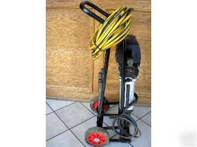 Kango 2500V demolition breaker jack hammer +cart bits