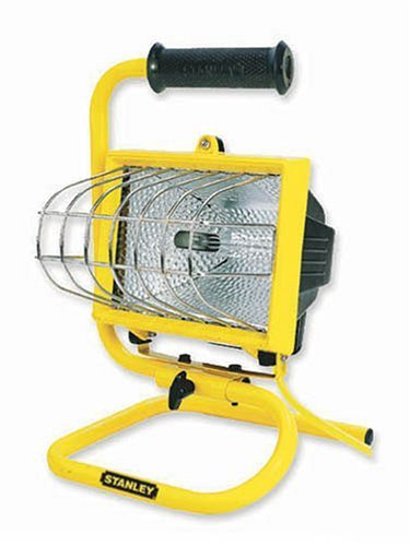 Stanley W12662 500 Watt Portable Halogen Worklight Yel