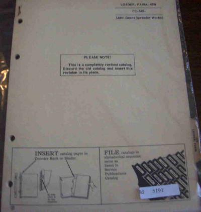 john deere 45 loader manual