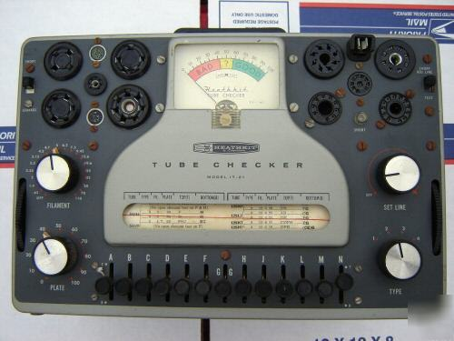 Heathkit it-21 vacuum tube tester