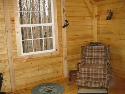 Log Cabin Kit Pre Cut Various Sizes Open Floor Plan