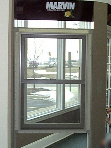 Marvin Integrity Pebble Gray Aluminum Clad Pine Window