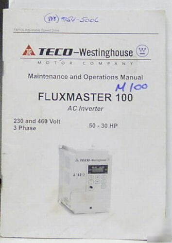 Teco Fm100 Ac Inverter 15 Hp 200 230v 3 Phase W Manual