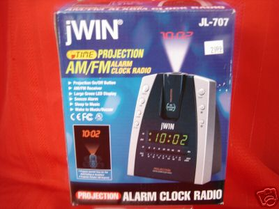 jwin time projection am fm alarm clock radio. Black Bedroom Furniture Sets. Home Design Ideas