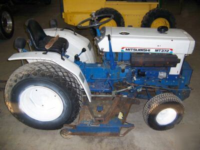 Mitsubishi mt 372 compact sel tractor with mower on