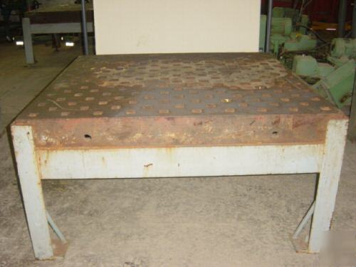 Acorn Style Welding Table 5ft X 5ft X 5 1 2 Quot With Stand