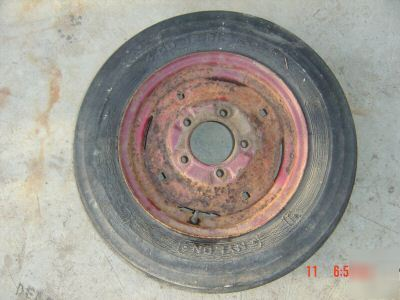 farmall,international, cub cadet front wheel and tire
