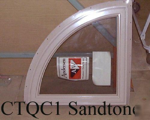 Andersen Sandtone Vinyl Clad Quarter Round Window Ctqc1
