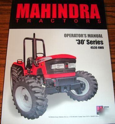 Mahindra 4530 tractor operator's manual book