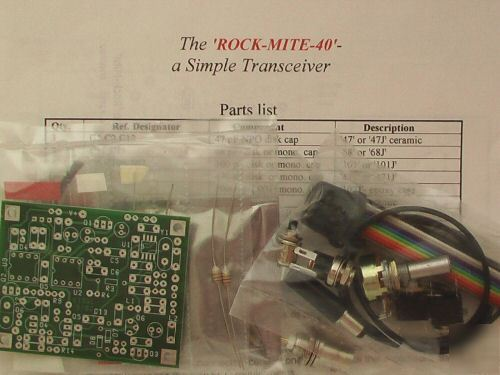 Rockmite qrp 40 and 20 meter transceiver kits and more