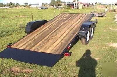 Trailer Brake Wiring >> 22 ft 18+4 tilt flatbed skidsteer equipment trailer