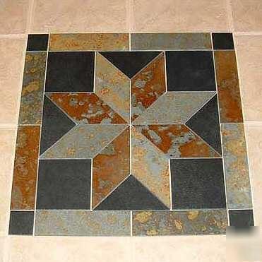 36 Inch Brazil Slate Tile Mosaic Medallion Deco Decor