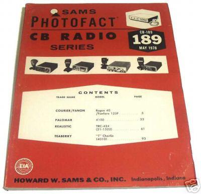 Sams photofact cb 190 may 1978 cb radio series for Lloyds motors jamestown nd