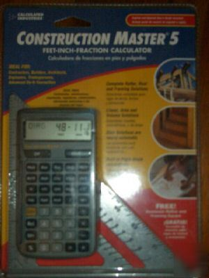 construction master 5 b calculator