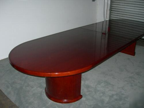 FT Light Cherry Wood Conference Table Chairs - Cherry wood conference table