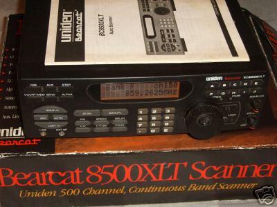 Uniden bearcat BC8500XLT auto scanner bc-8500XLT xlt
