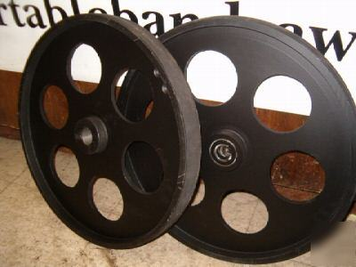 "Bandsaw Mill For Sale >> Bandsaw wheels pair 20"" with hardened drive shaft"