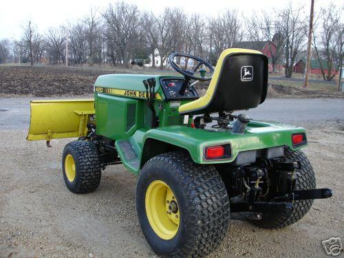 John Deere 420 Compact Garden Tractor Mower Plow 3point