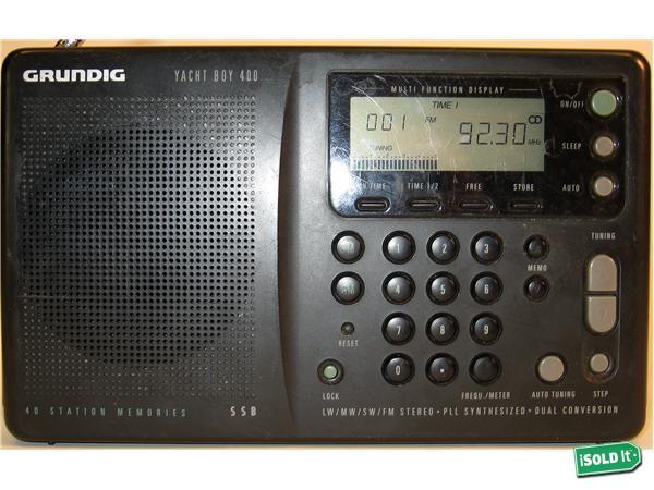 Grundig shortwave radio yacht boy 400 short wave not pe