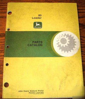 John Deere Tractor Loader Parts Catalog Jd Book Img