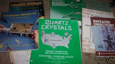 Collection of amatuer radio manuals, books and magazine