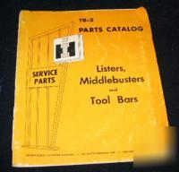 International harvester listers middlebusters tool bars