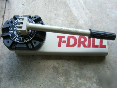 T-drill t-30G t-30 g, nd-54 notcher, bits, case, video