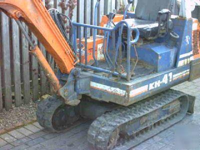kubota kh 41 1 5 ton mini digger excavator longest arm. Black Bedroom Furniture Sets. Home Design Ideas