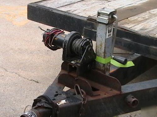 P235 70R15 Tires >> 20' car haul trailer dual axle 2 ramps ramp bay