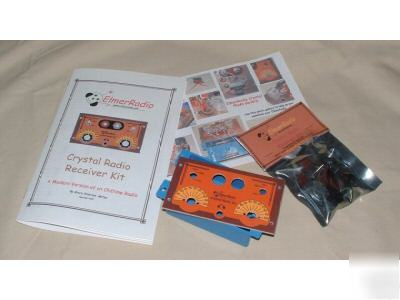 Crystal radio kit--for ham, hobby, school, scouts