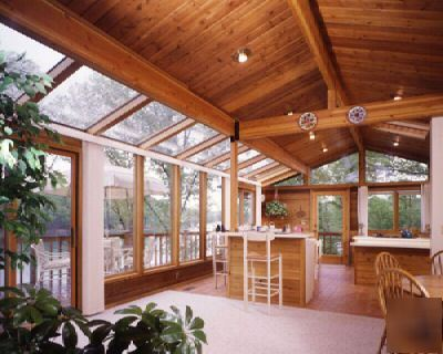 Lindal pre cut cedar sunroom for Cedar sunroom